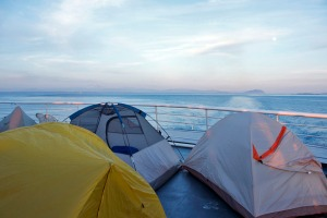 Tents on the Ferry